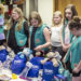 Girl Scouts from Brewer Troop #1437 visited Families And Children Together May 12 to donate blankets, toys, and personal items to children entering foster care. The troop spent three months creating donation packages and making blankets by hand.