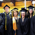 Six Health Information Management students received Kennebec Valley Community College associate degrees during Northern Maine Community College's 2017 Graduation Ceremony. From left to right: Angela Boyce, Aileen Peterson, Robin Booker, Gloria Boykin, Destiny Cyr, and Kimberly Goodall.