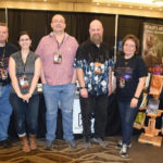 Left to right, Duane E. Coffill, Katherine Silva, Steven Hobbs, David Price, Deborah J. Hughes, all members of Horror Writers of Maine, at last year's Bangor Comic & Toy Con.