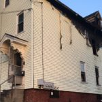 Three families are without a home after a fire ripped through an apartment house in Lewiston late Wednesday night.
