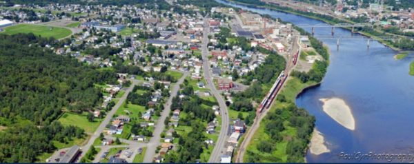 Aerial View of Madawaska, Maine. Paul Cyr Photo