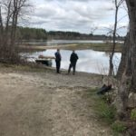 Maine Marine Patrol is searching for a missing man who, according to eye witness reports, fell from his boat into the Androscoggin River near Brunswick.