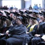 Students at Thomas College's 2017 graduation ceremony.