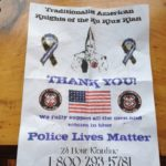 Residents of the Knox County towns of Union and Appleton received flyers purporting to be from the Traditionalist American Knights of the Ku Klux Klan in November 2016.