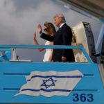 U.S. President Donald Trump and first lady Melania Trump boards Air Force One to travel to Rome from Ben Gurion International Airport in Tel Aviv, Israel, May 23, 2017.
