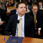 James Comey waits before testifying at a House Intelligence Committee hearing into alleged Russian meddling in the 2016 U.S. election, on Capitol Hill in Washington, U.S., March 20, 2017.