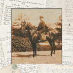 This 8-inch by 10-inch mounted print of Charles W. Morse on horseback in New York City, circa 1907, is part of a collection of Morse's letters, photos and other documents listed by Between the Covers Rare Books for $30,000.