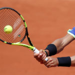 Spain's Rafael Nadal in action during his fourth round match