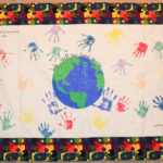 This quilt, made by students at Wallagrass Elementary School after domestic violence prevention education by the Hope and Justice Project, was featured at an exhibit at the University of Maine at Fort Kent's Blake Library Gallery.