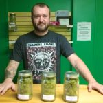 Steve Rusnak, owner of Full Bloom Cannabis in Fort Kent, carries several varieties of marijuana along with a selection of cannabis edibles, tinctures, salves and oils for his medical marijuana customers.
