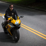 PORTLAND, MAINE -- 06/03/17 -- Justin Paulin, 33, rides his 2007 Suzuki GSX-R1000 in Portland on Saturday.  Paulin served nearly a decade in federal prison on drug trafficking charges and had a goal of getting out, getting his life together and buying a motorcycle. Troy R. Bennett | BDN