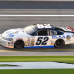 ARCA Series driver Austin Theriault (52) leads during the Lucas Oil Complete Engine Treatment 200 at Daytona International Speedway in November 2016. Theriault on Saturday won the ARCA race in Minnesota by .029 seconds.