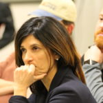 Maine's Speaker of the House Sara Gideon listens to audience questions during a Town Hall meeting hosted by Maine Democratic party leaders, Friday March 3, at the University of Maine at Fort Kent.