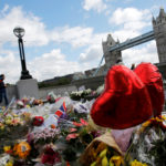 Floral tributes are seen near the scene of the attack at London Bridge and Borough Market in central London, June 7, 2017.
