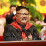North Korean leader Kim Jong Un reacts during the 8th Congress of the Korean Children's Union at the April 25 House of Culture in this undated photo released by North Korea's Korean Central News Agency in Pyongyang, June 7, 2017.
