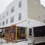Caption Workmen work on 24-unit Avesta Housing project site in Gorham in February 2016. In 2015, Avesta saw a 36 percent increase in housing requests coming from senior households.
