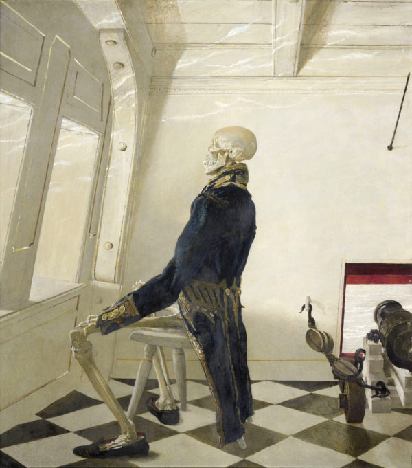 Andrew Wyeth's later period self-portrait, the strange, surreal &quotDr. Syn,&quot is on display at the Farnsworth Art Museum in Rockland through September 2017.