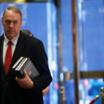 U.S. Representative Ryan Zinke, R-Montana, arrives for a meeting with U.S. President-elect Donald Trump at Trump Tower in Manhattan, New York City, Dec. 12, 2016.
