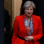 Britain's Prime Minister Theresa May leaves the Conservative Party's Headquarters after Britain's election in London, Britain June 9, 2017.