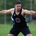 Orono's Jake Koffman competes in the discus during the PVC Small School Championship meet at Foxcroft Academy on May 29. Koffman placed first in the discuss at the New England championships in Norwell, Massachusetts, on Saturday