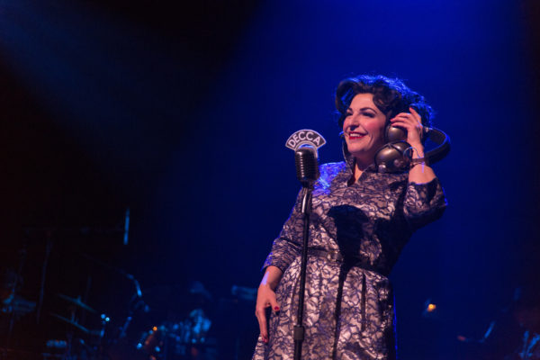 Christine Mild as Patsy Cline. &quotAlways...Patsy Cline.&quot Maine State Music Theatre. Photo by Kinectiv.