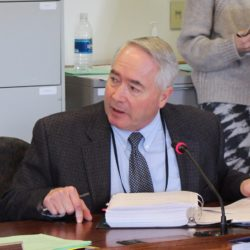 Department of Corrections Commissioner Joseph Fitzpatrick testified at a work session of the Maine Legislature's Joint Standing Committee on Criminal Justice and Public Safety on Feb. 27, 2017. Fitzpatrick has since largely ceased communicating with the committee, according to Rep. Charlotte Warren, D-Hallowell, co-chairwoman of the committee.