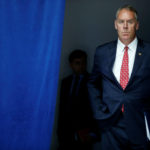U.S. Interior Secretary Ryan Zinke waits to take the stage with President Donald Trump for his announcement on infrastructure improvements, at the Department of Transportation in Washington, U.S. June 9, 2017.