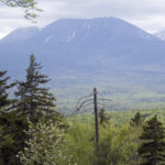 The Katahdin Woods and Waters National Monument offers a spectacular view of the mountains of Baxter State Park.