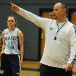 The University of Maine women's basketball coach Richard Barron.