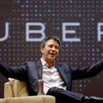 Uber CEO Travis Kalanick speaks to students during an interaction at the Indian Institute of Technology (IIT) campus in Mumbai, India, Jan. 19, 2016.