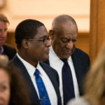 Bill Cosby leaves with his publicist Andrew Wyatt after the second night of jury deliberations in his sexual assault trial at the Montgomery County Courthouse in Norristown, Pennsylvania, U.S. June 13, 2017.