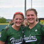 Sisters Leine McKechnie (left) and Kortney McKechnie have provided Penobscot Valley High School with a formidable battery in 2017. Leine, a freshman pitcher, and Kortney, a junior catcher, have helped propel the Howlers from Howland into Saturday's Class C softball state championship game against Richmond at Saint Joseph's College in Standish.