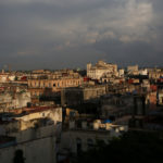 Buildings are seen as the sun sets in Havana, Cuba June 13, 2017.