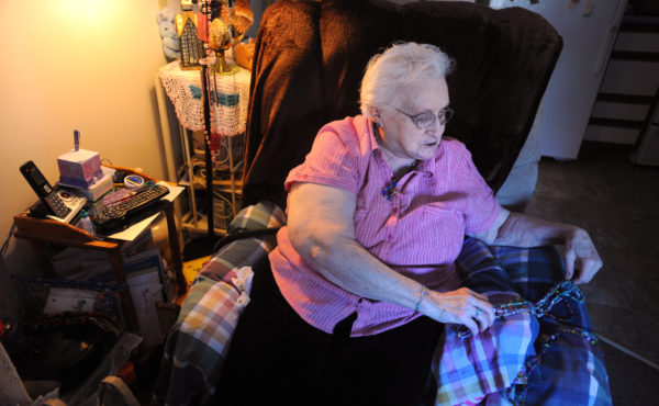 Madeline McAvey, 84, of Belfast receives meals from Meals on Wheels.