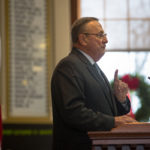 Gov. Paul LePage speaks to the Maine House of Representatives before swearing them in for the first session of the 128th Legislature at the State House in Augusta, Dec. 7, 2016.
