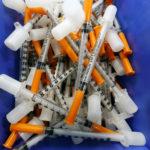 Syringes are seen at the SCMR (drug supervised injection site), the first supervised injection room for drug users, in Paris, France, on October 11, 2016.