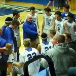 Morse High School boys varsity basketball coach Brian Bennett and his team during the 2016-2017 season.