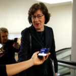 U.S. Sen. Susan Collins, R-Maine, speaks to reporters on her way to the U.S. Capitol in Washington, May 23, 2017.