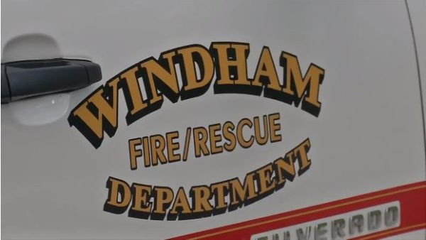 The Windham Fire and Rescue Department responded to a report of a jet-ski crash on Little Sebago Lake Sunday. (WGME photo)