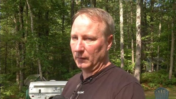 James Mycock witnessed the jet-ski crash on Little Sebago Lake in Windham and helped at least one person hurt in the incident. (WGME photo)