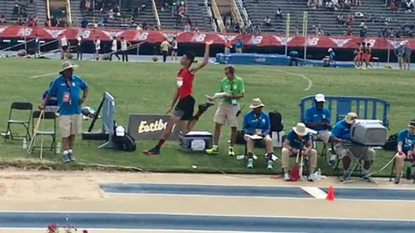 Mattanawcook Academy sophomore Cayden Spencer-Thompson finished second in the Emerging Elite long jump at the New Balance outdoor track and field national championships over the weekend.