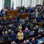 Gov. Paul LePage addresses the chamber during the 2017 State of the State address at the State House in Augusta.