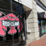 The Congress Street headquarters of the Maine Red Claws professional basketball team.