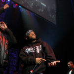 "Rapper Prodigy (C) of the group ""Mobb Deep"" performs during the J.A.M. Awards concert to benefit the late hip hop icon Jam Master Jay's Foundation for Music in New York, Nov. 29, 2007."