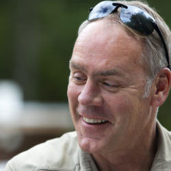 U.S. Secretary of the Interior Ryan Zinke smiles during a tour of the Katahdin Woods and Waters National Monument.