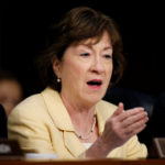 Senator Susan Collins (R-ME) questions witnesses about Russian interference in U.S. elections to the Senate Intelligence Committee in Washington, U.S., June 21, 2017.
