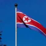 A North Korean flag flies on a mast at the Permanent Mission of North Korea in Geneva, Oct. 2, 2014.
