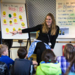 Longfellow Elementary School fourth-grade teacher Sarah Rasmussen talks about what moods a poem can set with her class in Portland.