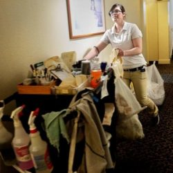 Trish Lizotte, a room attendant at The Meadowmere Resort in Ogunquit, poses for a photo March 23, 2015.