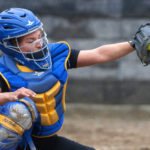 Hermon's Hailey Perry catches a pitch during a game against Old Town in May 2016. Perry has been named Miss Maine Softball.